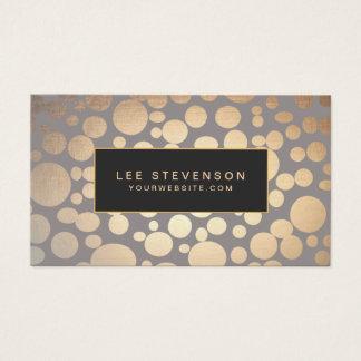 Stilvoller Goldkreis-Muster-Schönheits-Salon Visitenkarte