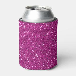 Stilvoller heißes Rosa-Glitter Dosenkühler