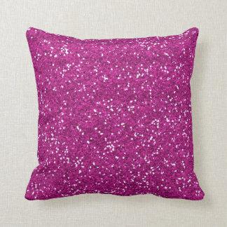 Stilvoller heißes Rosa-Glitter Kissen