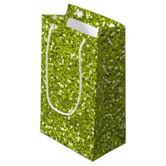 Stilvoller Limoner grüner Glitter Kleine Geschenktüte