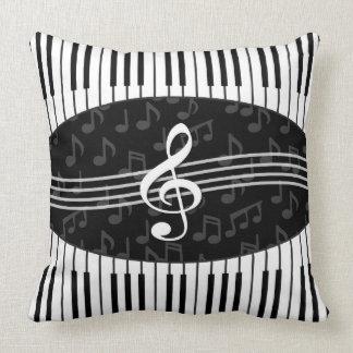 Stilvoller Musiknoten-dreifacher Clef-und Kissen