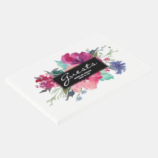 Stilvoller rosa und lila gästebuch