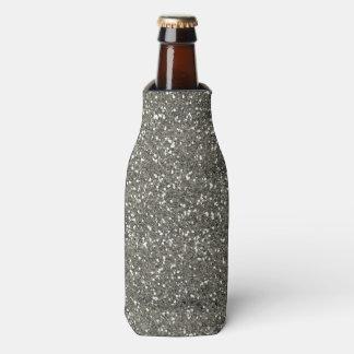 Stilvoller silberner Glitter Flaschenkühler
