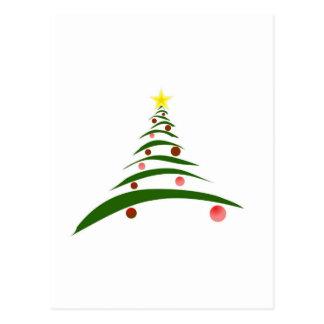 Stilvoller Weihnachtsbaum Postkarte