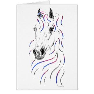 Stilvolles arabisches Pferd Karte