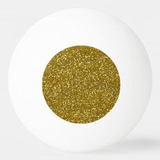 Stilvolles Glitter-Gold Tischtennis Ball