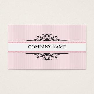 Stilvolles göttliches Vintages rosa Schwarzes DER Visitenkarten