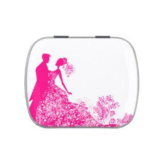 stilvolles Hochzeit Bonbon-Zinn Süßigkeitenbox