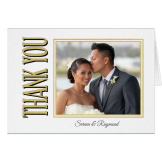 Stilvolles Hochzeits-Foto danken Ihnen Karte
