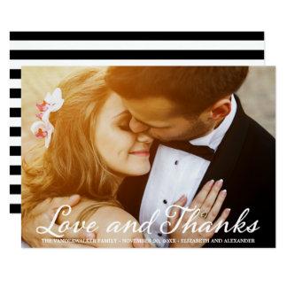 Stilvolles Hochzeits-Foto-Skript danken Ihnen zu Karte
