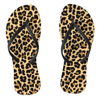Stilvolles Leopard-Muster drehen Reinfälle um Badesandalen