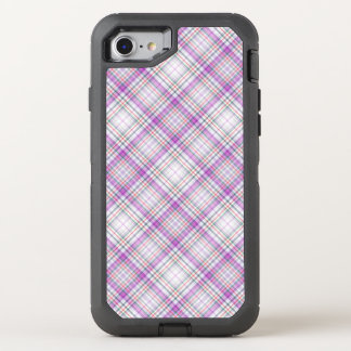 Stilvolles lila checkered Muster OtterBox Defender iPhone 7 Hülle