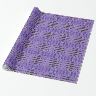 Stilvolles lila schwarzes Muster Geschenkpapierrolle
