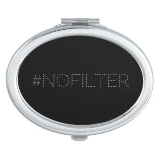 Stilvolles modernes lustiges #nofilter schminkspiegel