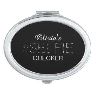 Stilvolles personalisiertes #Selfie Schachbrett Taschenspiegel