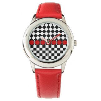 Stilvolles Schwarz-weißes halbes Armbanduhr