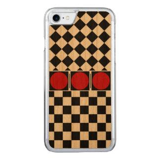 Stilvolles Schwarz-weißes halbes Carved iPhone 8/7 Hülle