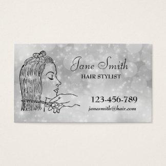 Stilvolles Silber des Friseur-Haar-Stylisten Visitenkarte