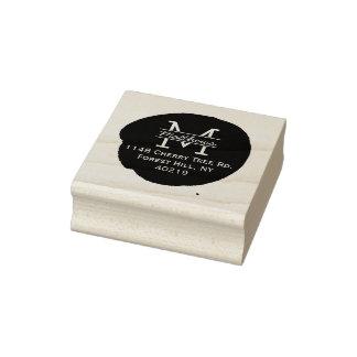 Stilvolles Tinten-Spritzer-Gewohnheits-Monogramm Gummistempel