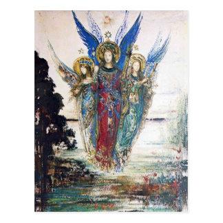 Stimmen des Abends durch Gustave Moreau Postkarte