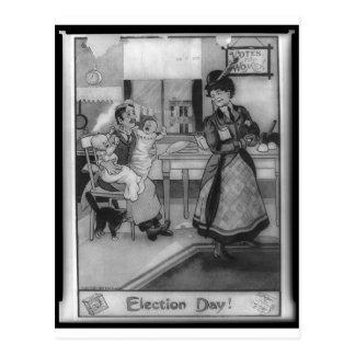 Stimmen für Frauen! Postkarte