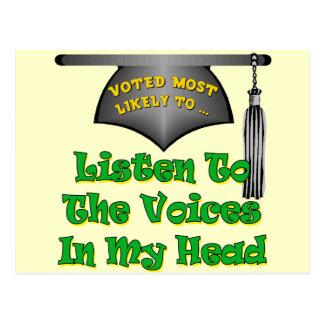 Stimmen in meinem Kopf Postkarte