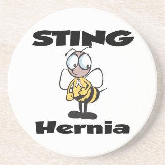 STING-Hernie Sandstein Untersetzer