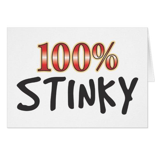Stinky 100 Prozent Grußkarte