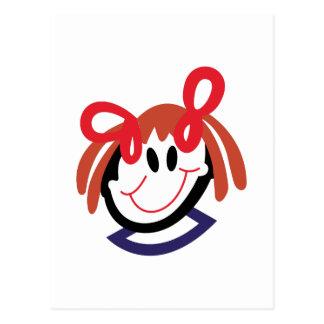 Stock-Mädchen-Kopf Postkarte