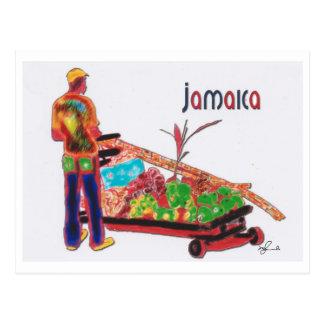 Stock-Mann Jamaika Postkarte