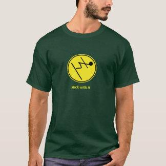 Stock mit ihm: Skifahrer (Gelb) T-Shirt