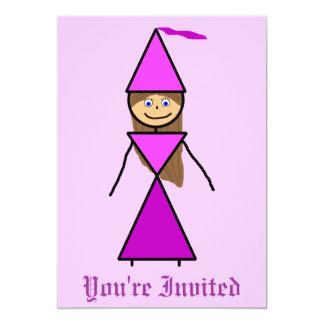 Stock-Prinzessin Brunette 12,7 X 17,8 Cm Einladungskarte