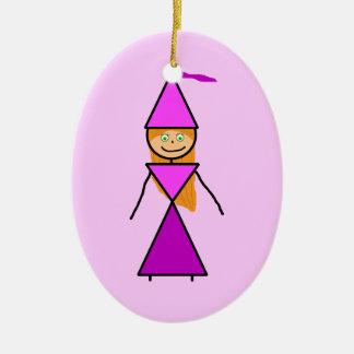 Stock-Prinzessin Redhead Ovales Keramik Ornament