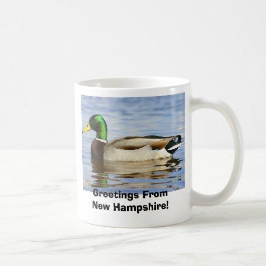 Stockente, Grüße vom New Hampshire! Tasse