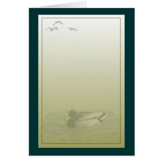 Stockenten-Drake-Enten-Gruß Karte
