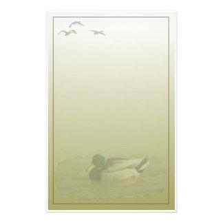 Stockenten-Drake-Gewohnheits-Briefpapier Briefpapier