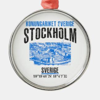Stockholm Rundes Silberfarbenes Ornament
