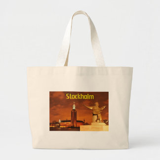 Stockholm, Schweden nachts Jumbo Stoffbeutel