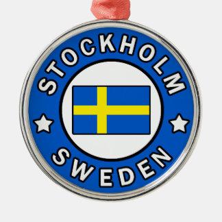 Stockholm Schweden Silbernes Ornament