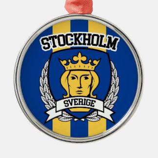 Stockholm Silbernes Ornament