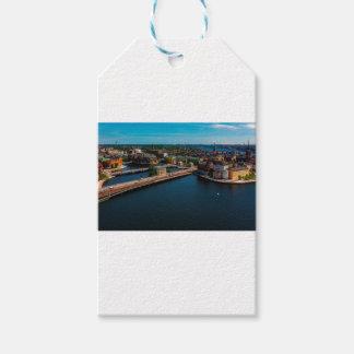 Stockholm-Skyline Geschenkanhänger