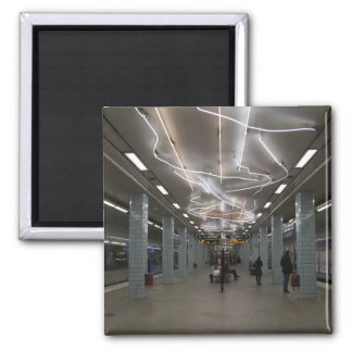Stockholm-Untergrund II Quadratischer Magnet