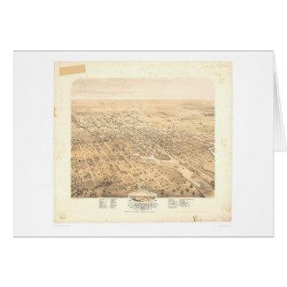 Stockton, panoramische Karte 1870 (1667A) CAs -