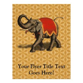 Stoff des indischen Elefant-w/Red Flyerdesign