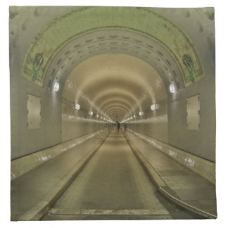 Stoff Servietten Hamburg alter Elbtunnel