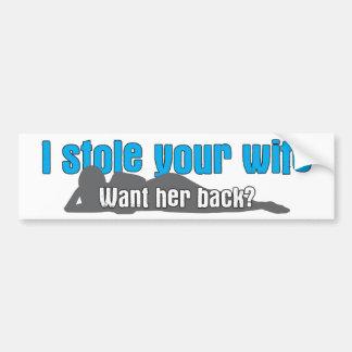 Stola I Ihre Ehefrau Autoaufkleber