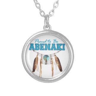 Stolz, Abenaki zu sein Versilberte Kette