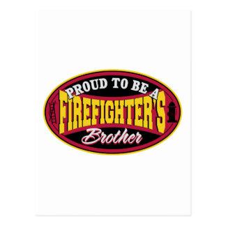 Stolz, der Bruder eines Feuerwehrmanns zu sein Postkarte