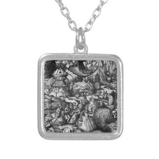 Stolz durch Pieter Bruegel das Älteste Halskette Mit Quadratischem Anhänger