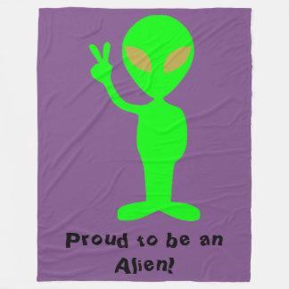 """""""Stolz, ein alien-zu sein"""" Grün-alien-Fleece-Decke Fleecedecke"""
